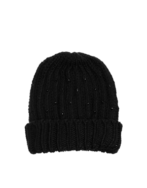 New Look | New Look Beaded Beanie at ASOS