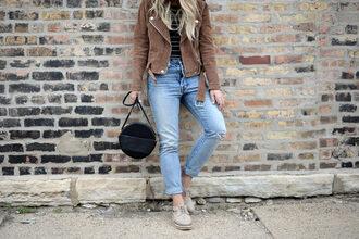 blonde bedhead blogger top jeans bag jacket jewels shoes