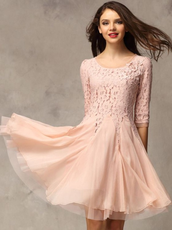 dress prom dress short party dresses pink dress pink flowers floral dress