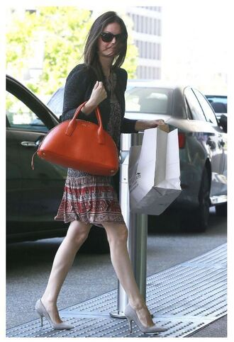 dress mini dress pumps rachel bilson purse sunglasses