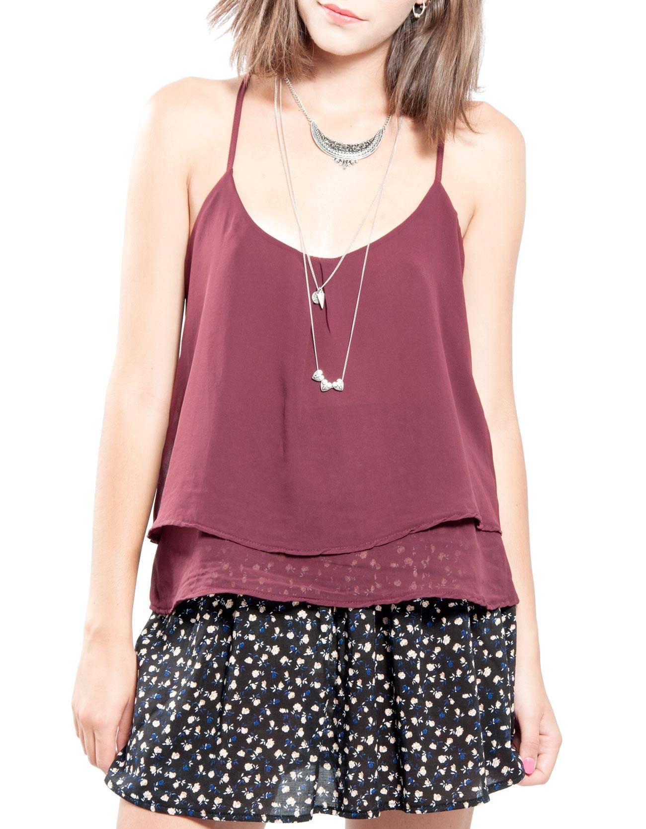 Blusa sin manga doble capa : ROPA Blusas & Camisas