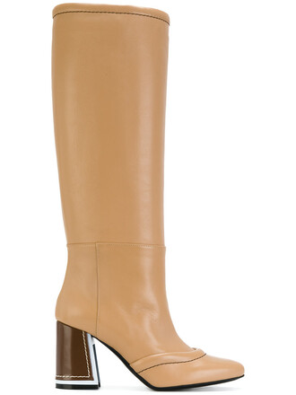 heel women boots heel boots leather nude shoes