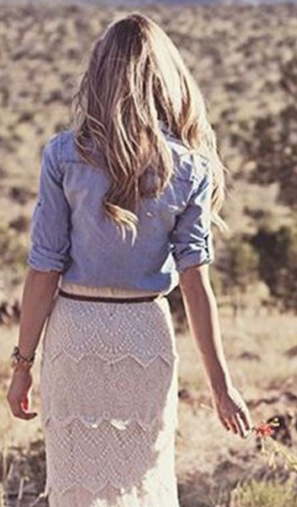 Skirt: beige skirt, lace dress, maxi skirt, aztec skirt - Wheretoget