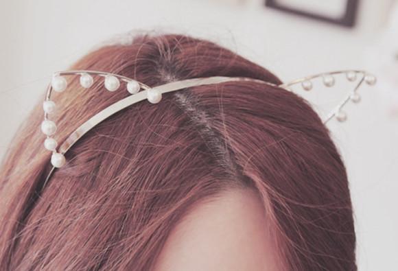 headband hair accessories pearl