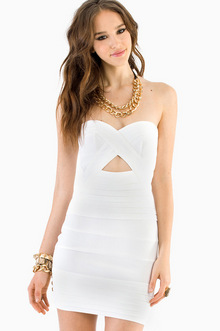 Diana Strapless Bodycon Dress - TOBI