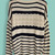 Navy Beige Striped Embroidery Pullovers Sweater - Sheinside.com