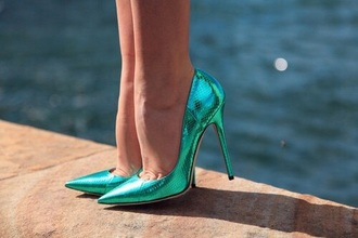 shoes heels green blue grunge party green heels blue heels