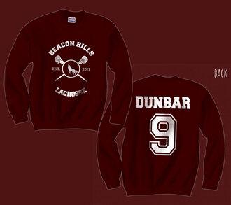 sweater teen wolf dylan sprayberry burgundy