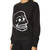 CHEAP MONDAY ELLIE EMBROIDERED SKULL SWEAT - BLACK