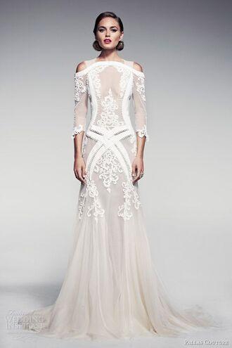 dress gorgeous white weedingdress cool wedding dress white dress lace dress