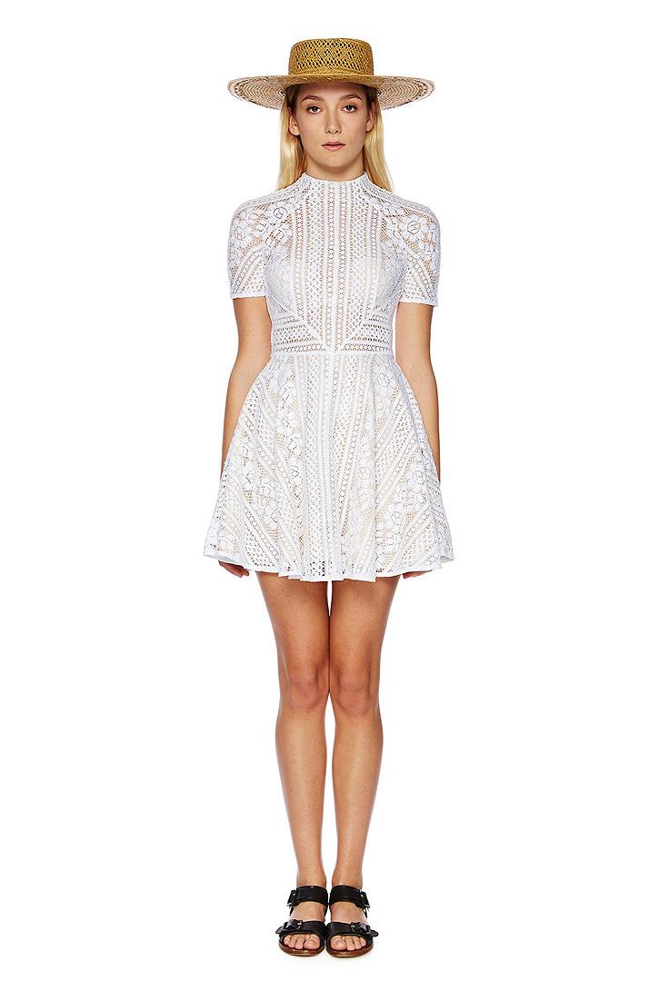 Valentine mini flare dress
