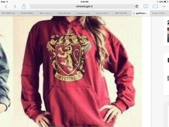 jacket harry potter hogwarts hoodie gryffindor