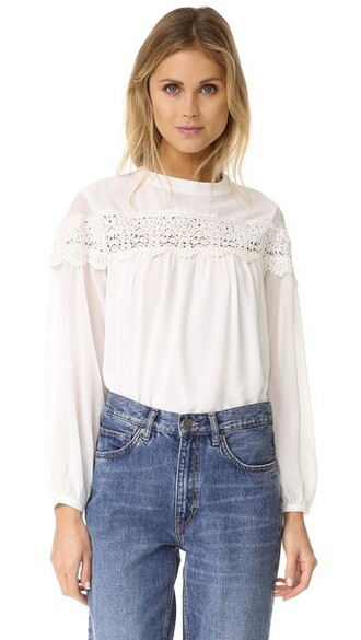 blouse boho white top