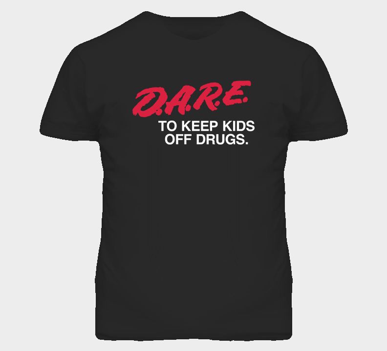 Dare Keep Kids Off Drugs Anti Drug Retro T Shirt