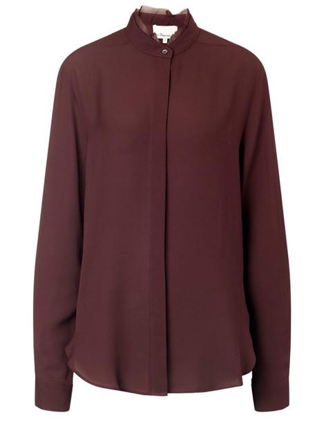 blouse silk purple