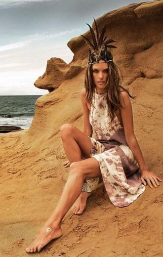 dress summer dress alessandra ambrosio