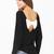 Black Long Sleeve Backless Bow Embellished T-Shirt - Sheinside.com