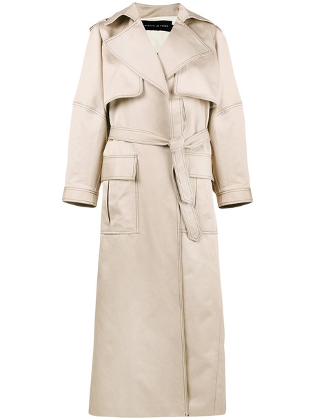 Michael Lo Sordo coat trench coat oversized women nude cotton
