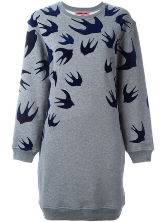 dress sweatshirt dress grey