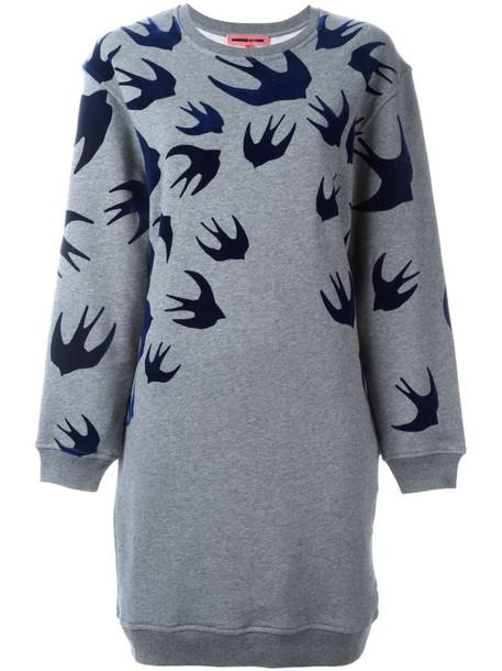 McQ Alexander McQueen dress sweatshirt dress grey