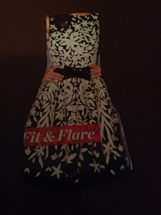 dress floral dress fit and flare dress