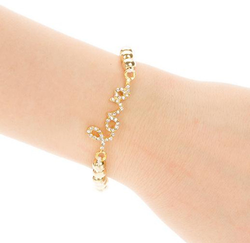 Hot sale New Cross Love Infinity Beaded Crystal Rhinestone Gold Silver Bracelets | eBay