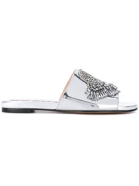 embellished sandals women embellished sandals leather grey metallic shoes