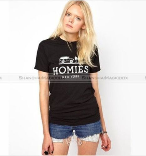 New Fashion Women Homies Funny Joke T Shirt Top Black White XS XXL WTS042 | eBay