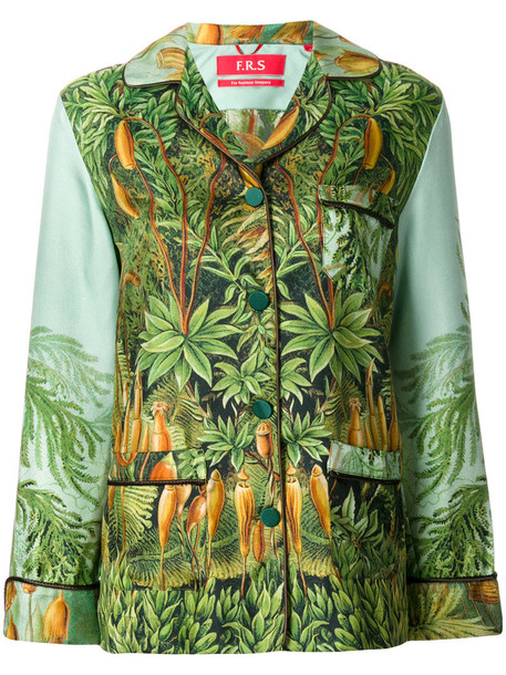 blouse embroidered women silk green top