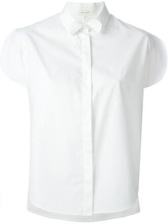 shirt slit white top