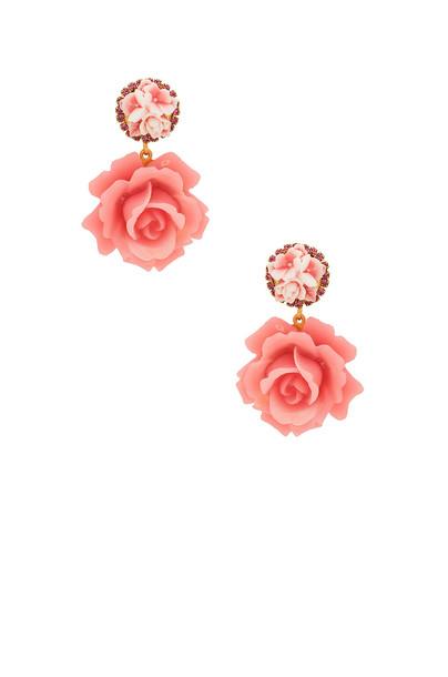 Elizabeth Cole earrings pink jewels
