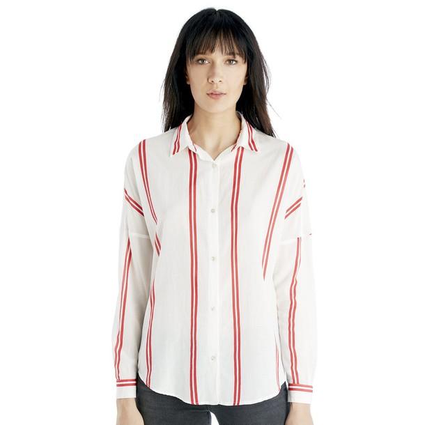 Scotch & Soda Loose Fit Stripe Shirt  - Combo C-X-Small