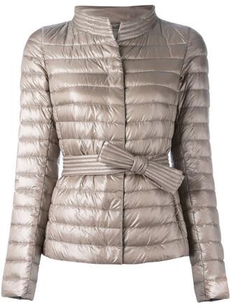 jacket puffer jacket high women high neck nude