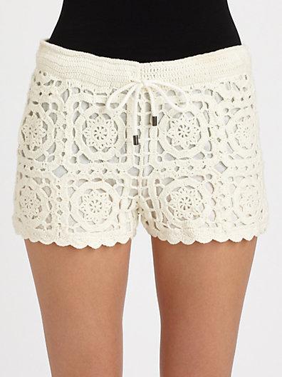 Carmelo crochet shorts
