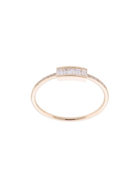 EF COLLECTION women ring gold grey metallic jewels