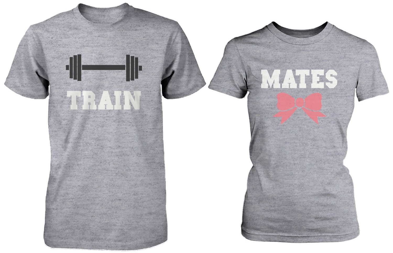 Couple t shirt design white - Amazon Com Cute Couple Workout T Shirts Train Mates Matching Grey Shirts For Couples Clothing