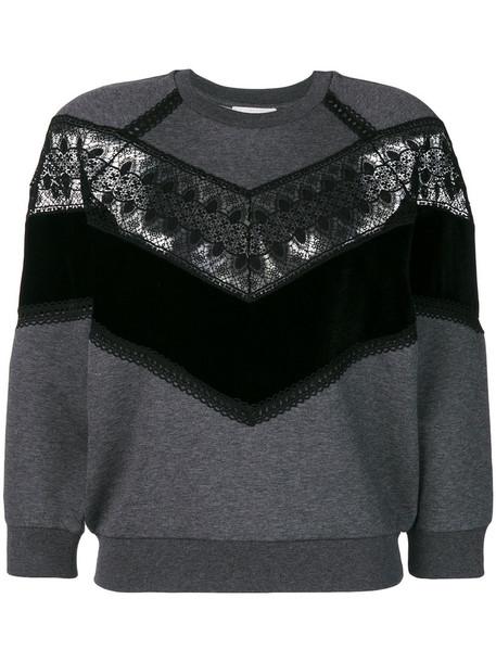 Stella McCartney jumper women lace cotton grey sweater