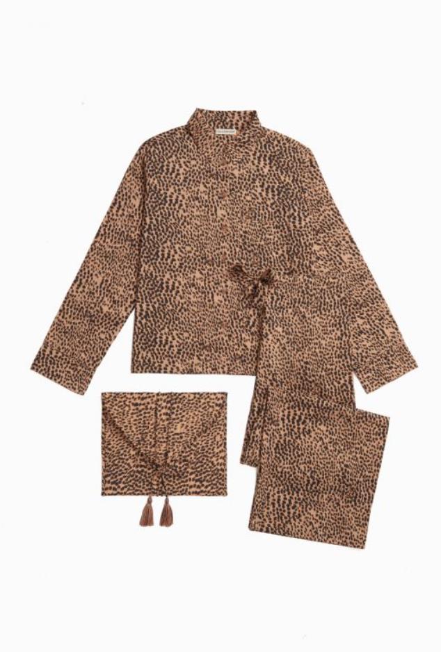 Ivy Pajama Set - Cheetah