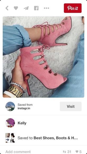 shoes heels high heels cute cute high heels pink