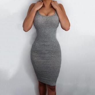 dress grey dress knitted dress bodycon dress
