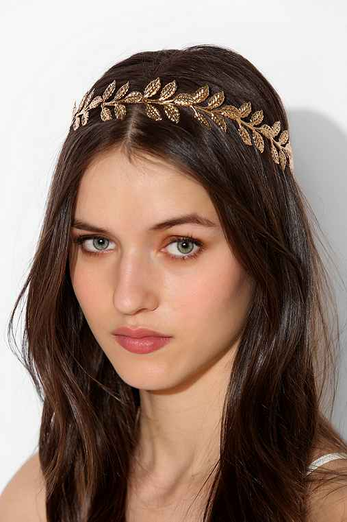 Golden Leaves Halo Headpiece Gold Halo Costume