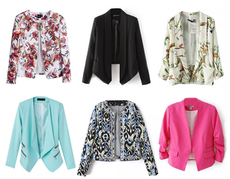 jacket blazer open front non button floral spring outfits outfit