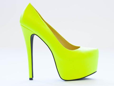 Jennifer Chou Cathrine in Neon Yellow at Solestruck.com