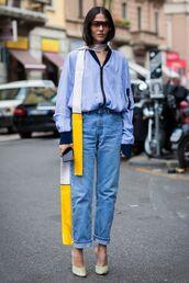 jeans,denim,pumps,jacket,scarf,infinity scarf,sunglasses