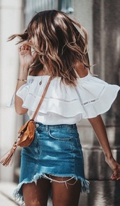 skirt,blouse