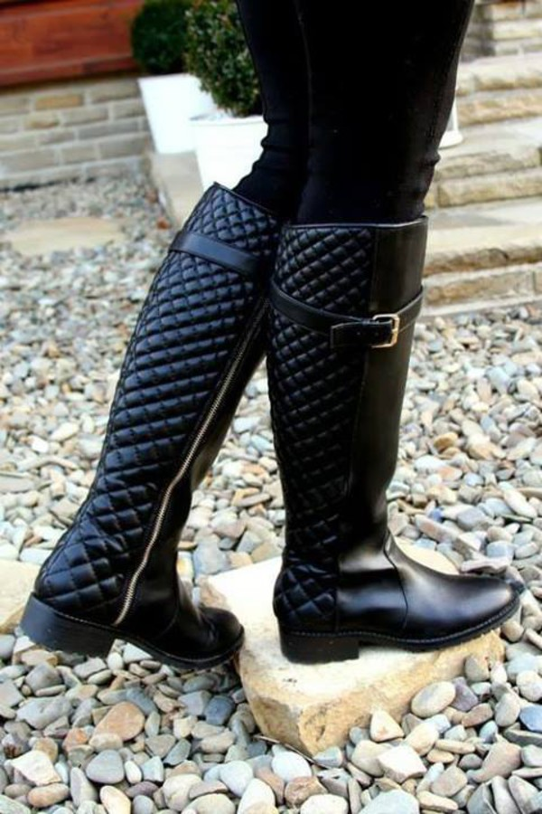 Quilted Over-the-Knee Riding Boots: Charlotte Russe
