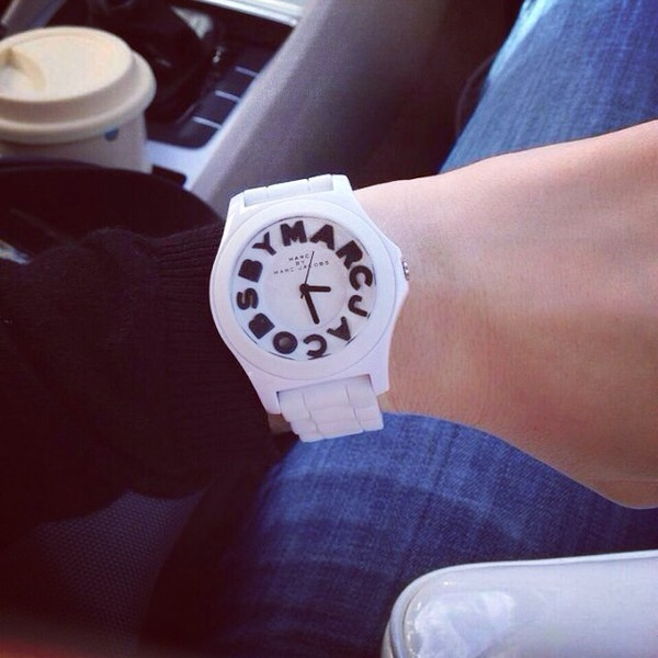 jewels marc jacobs white black watch