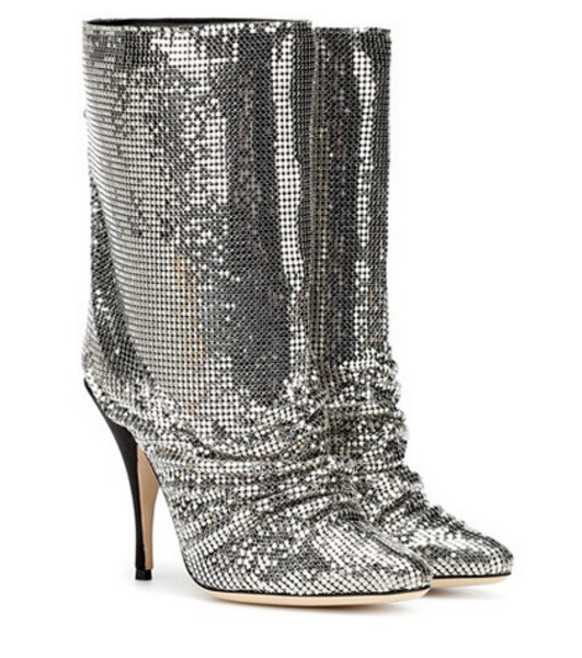 Marco De Vincenzo Chainmail ankle boots in silver