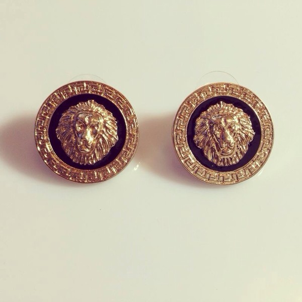 jewels lion stud earrings