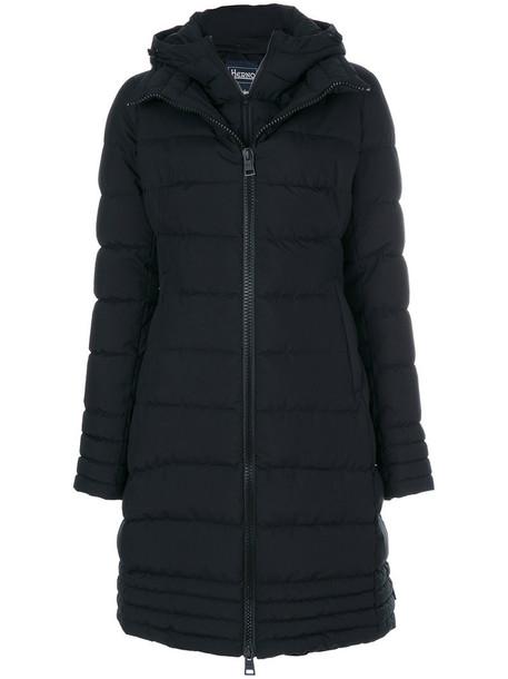 Herno parka long women black coat